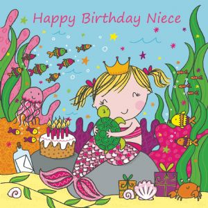 LIL11 - Niece Birthday Card Mermaid